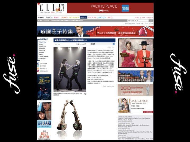 Fuse electric violinists - Elle Magazine