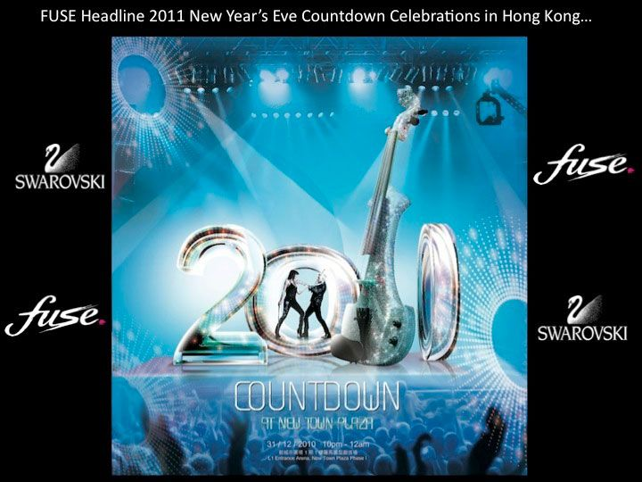 Fuse electric violinists - Hong Kong new year 2011
