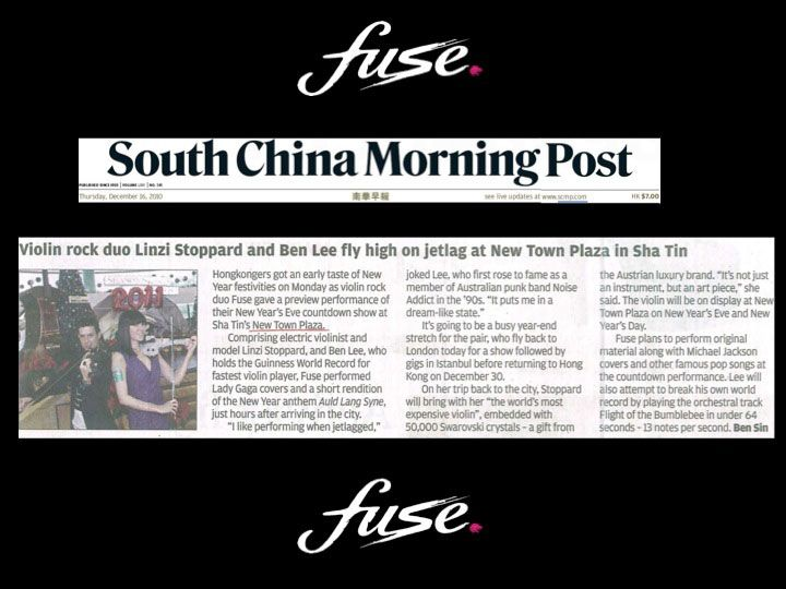 Fuse electric violinists - South China Morning Post 2