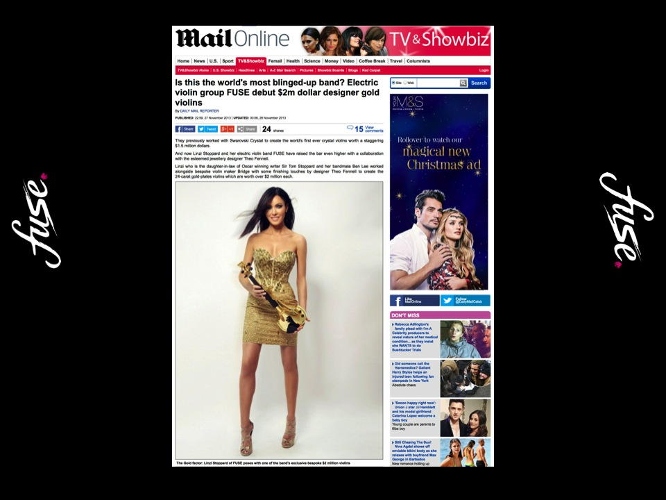Fuse gold violins linzi stoppard ben lee daily mail