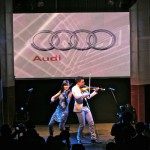audi A4 launch linzi stoppard electric violinist live entertainment