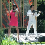 electric string quartet linzi stoppard chelsea flower show