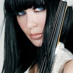 electric string quartet linzi stoppard model violinist