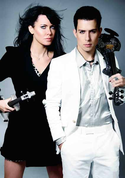 Fastest Electric Violinist In The World Ben Lee from Super String Group FUSE with Linzi Stoppard