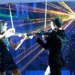 electric violinist laser live