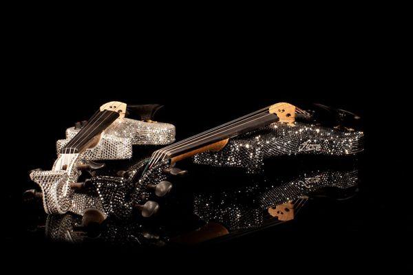 fuse electric string quartet swarovski crystal violinist
