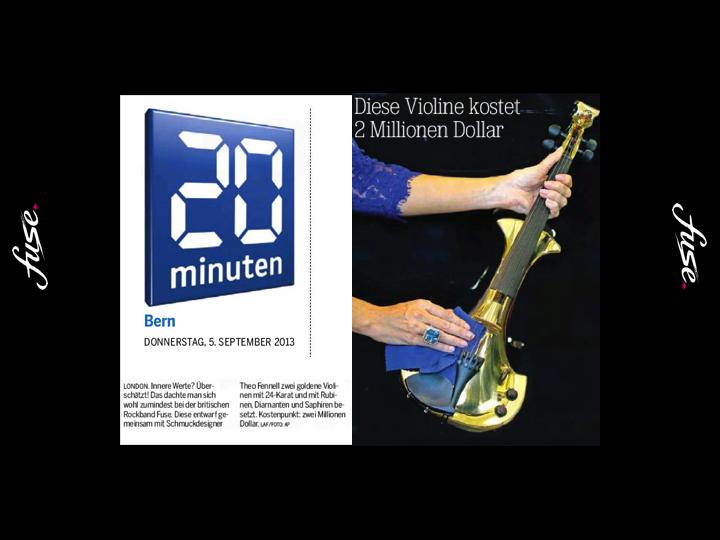 fuse electric violinists Bern 20Minuten