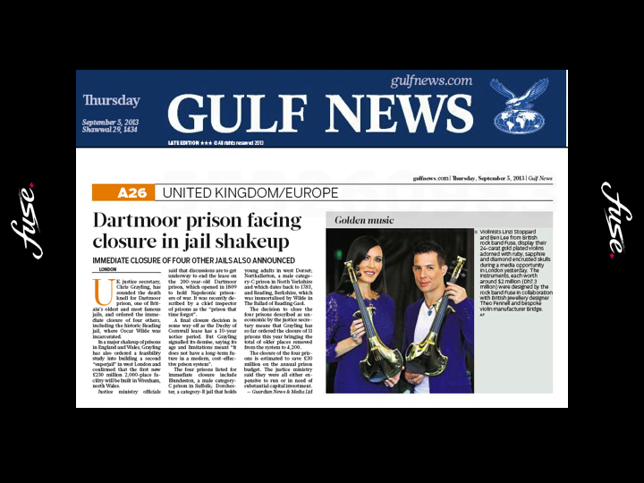 fuse electric violinists GulfNews