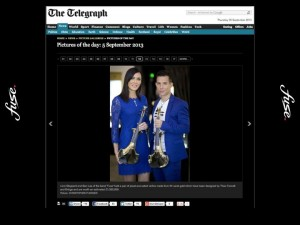 linzi stoppard gold plated violins fuse electric violinists daily telegraph FUSE duo