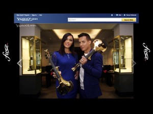 linzi stoppard gold plated violins fuse electric violinists gold violins Yahoo FUSE duo Maktoob