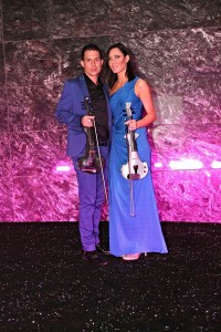 Corporate event entertainment - Fuse violinists on the red carpet in Abu Dhabi opening the world's most glamorous mall...