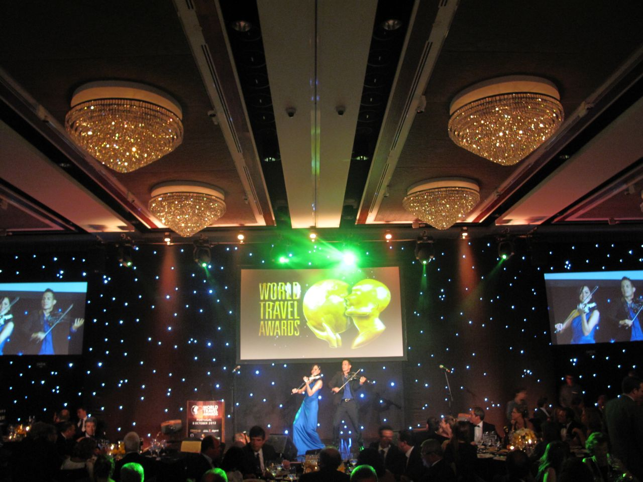 Live Entertainment By FUSE Electric Violinists At World Travel Awards