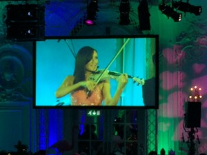 FUSE electric violinists peform band live at the Macmillan Annual Ball