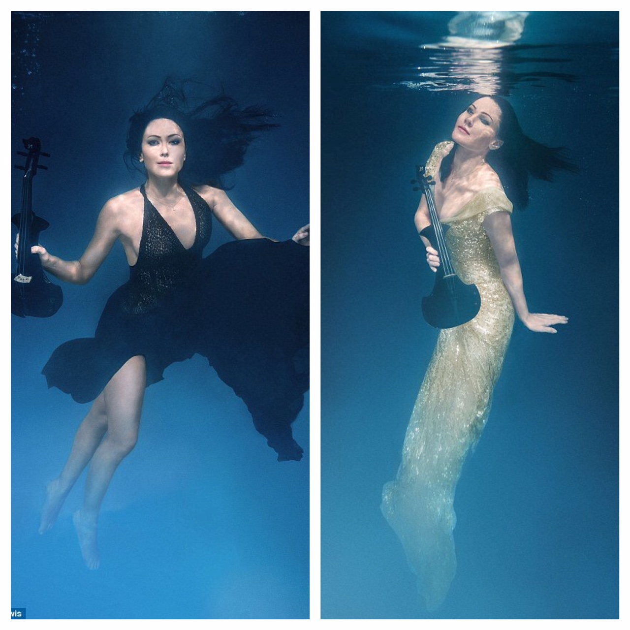 Linzi Stoppard FUSE Violinist Underwater Photo Shoot