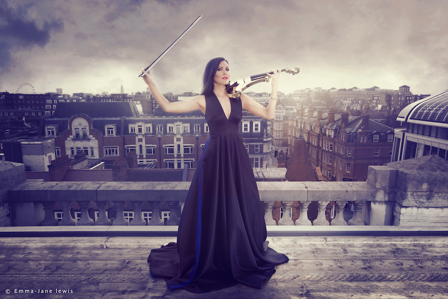 fuse violin band linzi stoppard roof top fashion photo shoot