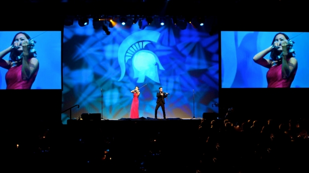 Michigan State University Corporate Entertainment By World's Leading Electric Violin Duo Linzi Stoppard and Ben Lee