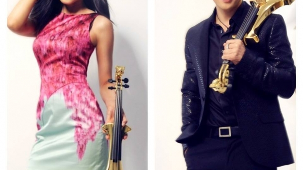 Fuse Duo Gold Plated Skulls Violins – World's First Ever