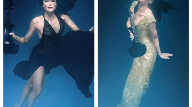 Linzi Stoppard FUSE Violinist Underwater Photo Shoot