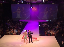 Live Corporate Entertainment The FUSE Violin Duo Supports Breast Cancer The Show